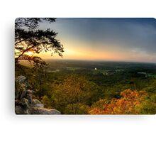 Sunset panorama on Georgia Mountains Canvas Print