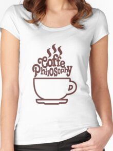 COFFE PHILOSOPHY Women's Fitted Scoop T-Shirt