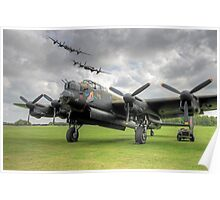 3 Lancasters - East Kirkby Flypast Poster