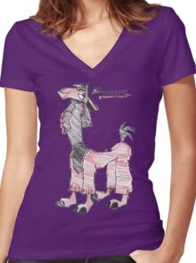 NoTouchie Women's Fitted V-Neck T-Shirt