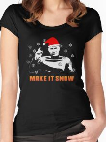 make it snow Women's Fitted Scoop T-Shirt
