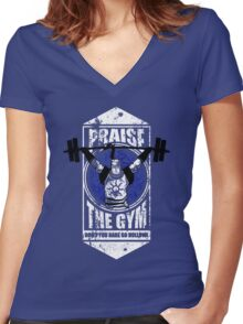 Praise The GYM Women's Fitted V-Neck T-Shirt