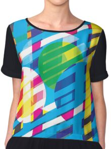 Game On Color Play Chiffon Top