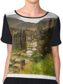 Gateway to the mountains Chiffon Top