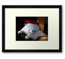 Junior Shy Santa Framed Print