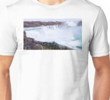 Niagara falls long exposure view on both United States and Canada Unisex T-Shirt
