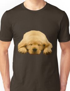 Sleeping Golden Retriever Puppy Unisex T-Shirt