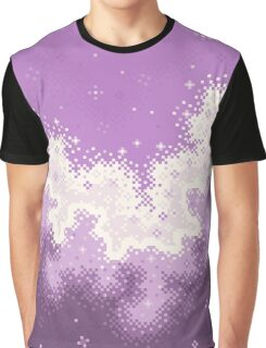 Lavender Chevron Pride Flag Galaxy Graphic T-Shirt