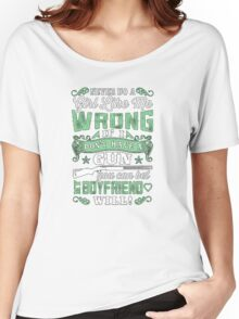 Never do a girl like me wrong if I don't have a gun you can bet boyfriend will - T-shirts & Hoodies Women's Relaxed Fit T-Shirt