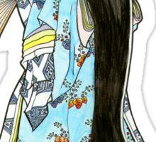 Japanese Heian Kimono Fox Mask Sticker
