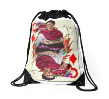 Queen Of Hearts Drawstring Bag
