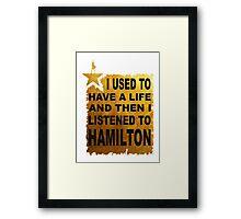 Hamilton The Musical Framed Print