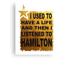 Hamilton The Musical Canvas Print