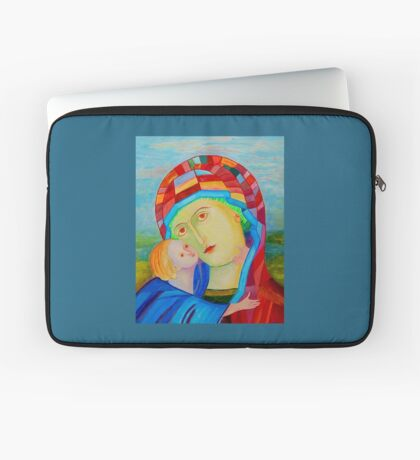 Our Lady Madonna and Child Santa Maria nursing Jesus Christ holy icom Laptop Sleeve