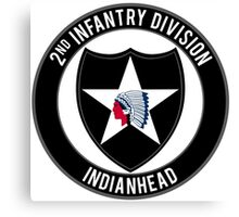 2nd Infantry Indianhead Canvas Print
