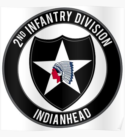 2nd Infantry Indianhead Poster