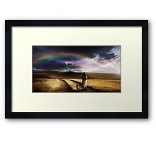 Somewhere Over The Rainbow Framed Print