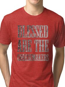 Blessed are the cheesemakers   Cult TV Tri-blend T-Shirt