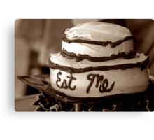 Alice's Eat Me Cake Canvas Print