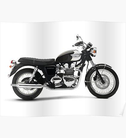 Triumph Bonneville T100 Poster