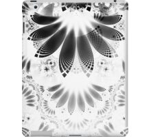 Silver Shikoba - Beautiful Black on White Fractal Paisley Forming Feathered Wings iPad Case/Skin