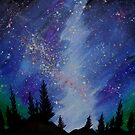 Wilderness Lights - Painting by Perggals© - Stacey Turner