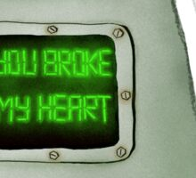 Heart Broken Robot Sticker