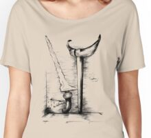 art skets drawing hand Women's Relaxed Fit T-Shirt