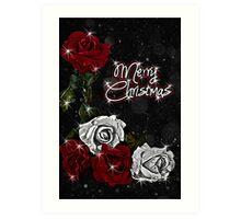 Roses for Christmas Art Print