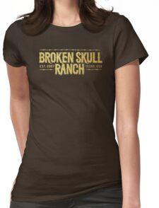 Broken Skull Gold Womens Fitted T-Shirt