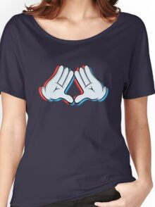 Stereoscopic swag hand Women's Relaxed Fit T-Shirt