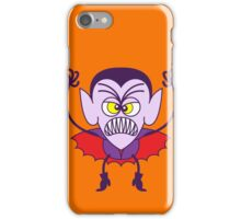 Scary Halloween Dracula Emoticon iPhone Case/Skin
