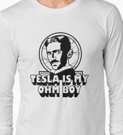 Tesla Is My Ohm Boy Long Sleeve T-Shirt