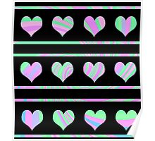 Colorful harts pattern 4 Poster