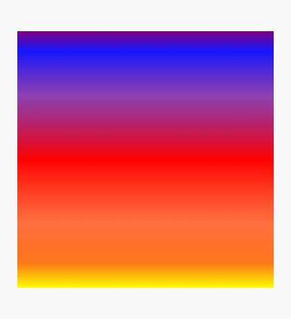 Color Gradient - Yellow | Orange | Red | Blue | Purple Photographic Print
