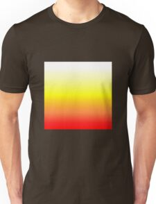 Color Gradient - Red | Yellow | White Unisex T-Shirt