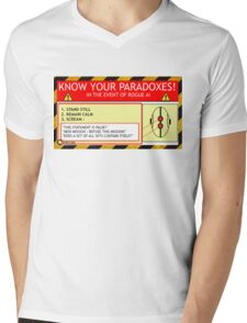 KNOW YOUR PARADOXES Mens V-Neck T-Shirt