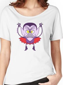 Scary Halloween Dracula Emoticon Women's Relaxed Fit T-Shirt