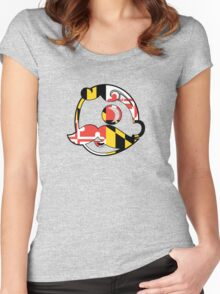 Maryland Flag on Face Women's Fitted Scoop T-Shirt
