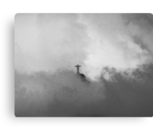 Christ The Redeemer in the Clouds Canvas Print