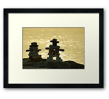 The Stone Couple Framed Print