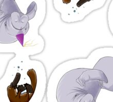 Platypus and Manatee Sticker