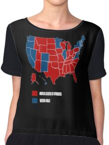 election map 2016 america vs vagina-ville Chiffon Top
