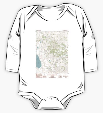 USGS TOPO Map California CA West of Snowstorm Mtn 102446 1989 24000 geo One Piece - Long Sleeve