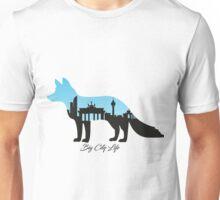Berliner Fuchs in blau Unisex T-Shirt
