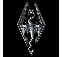 Skyrim Dragon Symbol Photographic Print