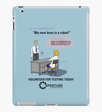 Robots are BETTER than you iPad Case/Skin