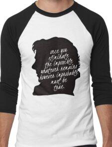 sherlock quote Men's Baseball ¾ T-Shirt