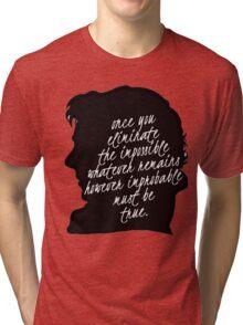 sherlock quote Tri-blend T-Shirt