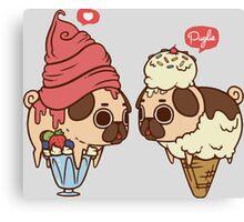 Pug Ice-Cream Canvas Print